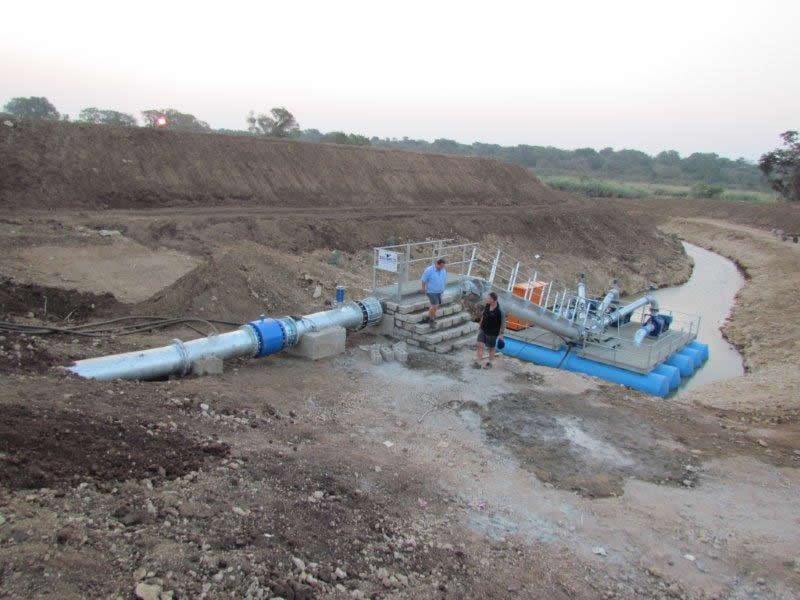DPI Plastics Ultraflo Pipes used at Mozambican project